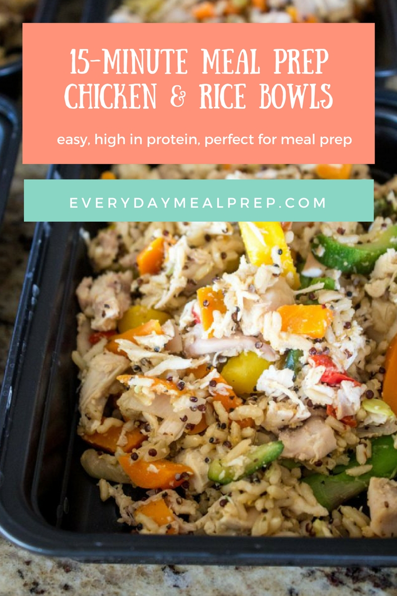 15-Minute Meal Prep Chicken & Rice Bowls
