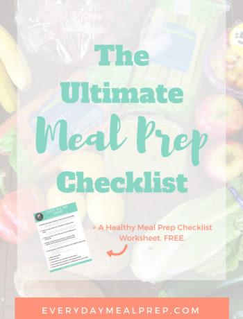 Ultimate Meal Prep Checklist