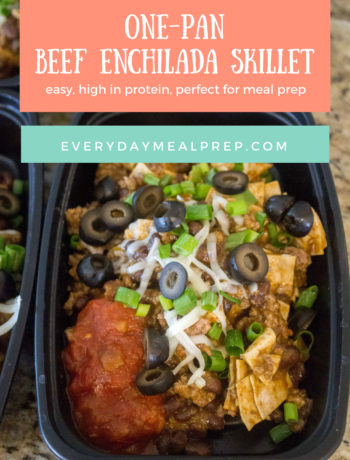 One Pan Beef Enchilada Skillet