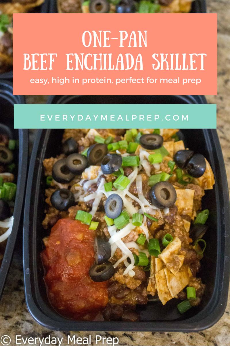 One Pan Beef Enchilada Skillet